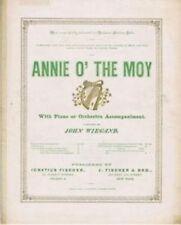 Annie O' The Moy,1884 Famed Opera Singer Adelina Patti, vintage sheet music