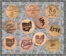 Personalized Cork Coasters, Set of 4 Great Gift