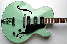 Dean Palomino Archtop W/CASE Electric Guitar Sea Green Hollowbody P-90's