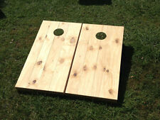 Unstained / Unfinished Stained Wood Slat Custom Cornhole Board