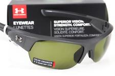 NEW UNDER ARMOUR BIG SHOT SUNGLASSES Satin Carbon/Black frame w/ Gameday lens