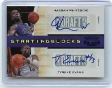 2010-11 CONTENDERS PATCHES #26 HASSAN WHITESIDE & TYREKE EVANS AUTOGRAPH #4/10