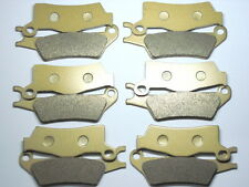 12 Front Rear Brake Pads For Can-Am Outlander MAX 800R EFI 4x4 DPS XT XT-P 2013