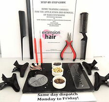 MICRO-RINGS FULL DIY  KIT+STEP X STEP MANUAL APP/REMOVAL HAIR EXTENSIONS