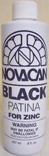 Novacan Black Patina for Zinc Came - 8 oz. Stained Glass Supplies