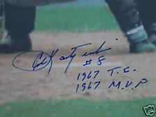 CARL YASTRZEMSKI SIGNED CANVAS 1967 MVP BOSTON RED SOX