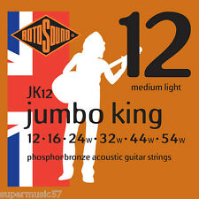 Rotosound JK12 Jumbo King Phosphor Bronze Acoustic Guitar Strings - Medium Light