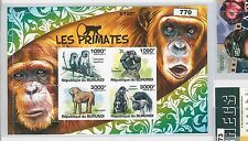 BURUNDI - ERROR, 2011 MISSPERF SHEET: MONKEYS, WILD FAUNA, ANIMALS