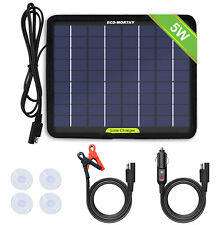 ECO-WORTHY Super Light 5W Solar Panel 12V Power  Maintainer Car Battery Charger