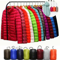 Women's Hoodie Packable Down Jacket Ultralight Stand Collar Coat Winter  Puffer