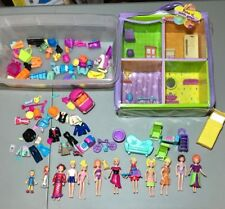 Vintage 2000s Era POLLY Pocket DOLLS Figures CLOTHING Shoes Trendy Townhouse Lot