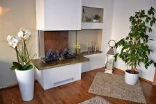 Ofenbank Sitzbank Kaminofen Einfassung Abdeckung Ofen Naturstein Marmor grün