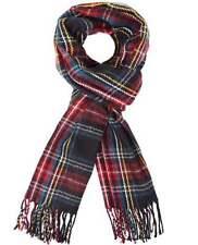 Écharpes et châles avec des motifs noirs Écossais et carreaux pour femme