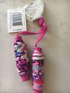 Vera Bradley Iconic Spools Bag Charm In Modern Medley Pink Keychain NWT $18