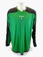 Diadora DiaDry Goalie Long Sleeve Jersey Mens Xtra Large XL Green Padded Arms