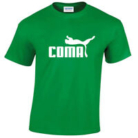 KIDS COMA LOGO T SHIRT PARODY SPORTS TREND SPOOF COMEDY CHILDRENS JOKE TOP