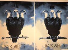 Jack White Poster Detroit Silent Giants 2012 White Stripes Matinee/evening Set
