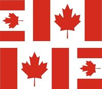4 x Aufkleber Auto Sticker tuning motorrad Autoaufkleber Fahne Flagge Kanada