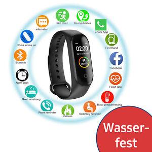 Bluetooth Smart watch Fitness Tracker Sport Uhr Puls Armband SpO2 Wasserdicht