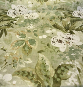 Waverly Natural Delicacy Green Velvet Upholstery Fabric by the yard