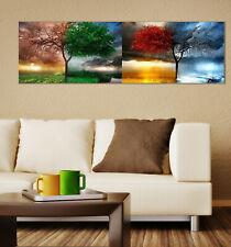 Leinwand Keilrahmenbild Kunstdruck Wandbild Canvas 4 Wetter Baum 30x90 cm