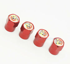 4x Red Generic Car Accessories Wheel Cover Tire Valve Stem Caps Logo for Abarth