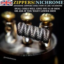ZIPPER COILS X8 ! NOW IN NI80/NICHROME 8 X CUSTOM BUILT COILS RDA/RTA