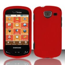 Hard Rubberized Case for Samsung Brightside U380 - Red