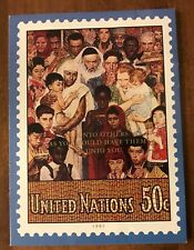 1991 United Nation'S Christmas Card With Cancelled Stamp #591 - Unique