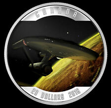 2016 Star Trek Enterprise $20 Canada Color Proof Silver Coin 50th Anniversary
