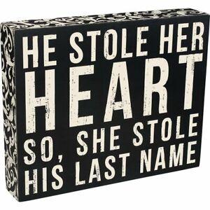"""""""Last Name"""" - Wedding Décor Box Sign"""