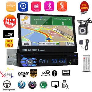 "7"" AUTORADIO MIT GPS NAVIGATION NAVI BLUETOOTH TOUCHSCREEN USB TF MP3 1DIN MAP"