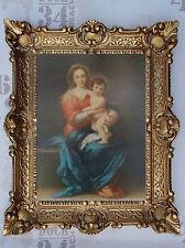 Gemälde Jesus Maria Ikonen Heiligenbild mit Rahmen 56x46 cm Religiöse Bilder 34