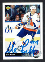 Uwe Krupp #187 signed autograph auto 1992-93 Upper Deck Hockey Card