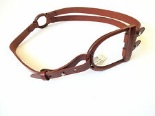 New Ralph Lauren Collection Italy Wide Brown Leather Equestrian Style Belt sz M