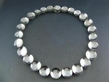 RARE Mexican Sterling ANTONIO PINEDA Necklace Modernist concave circular TAXCO