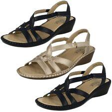 Sandali e scarpe casual zeppa sintetico per il mare da donna
