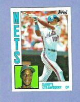 1984 Topps #182 Darryl Strawberry RC Rookie  - JUNK WAX - NEW YORK METS - MT