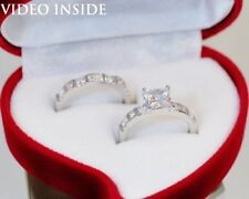 Platinum Solitaire with Accents Engagement Rings
