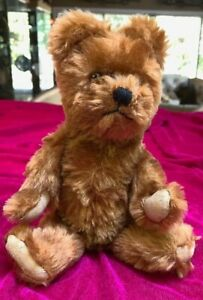 "Twyford England~Vintage 1960 Brown Mohair Bear~Moving limbs~Glass ""eye""~adorable"