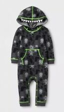 Monster Halloween Creeper 3-6 Months Hooded One Piece LS Outfit Costume NWT New