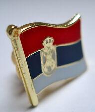Serbia Flag Lapel Pin Badge Superior High Quality Gloss Enamel