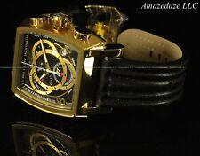 NEW Invicta Mens Swiss ETA Chronograph S1 Tonneau Stainless Steel Leather Watch
