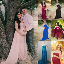 Pregnant Women Maternity Maxi Dress Gown Wedding Party Photography Prop Clothes