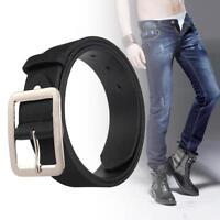 Casual Men's Faux Leather Belt Pin Belts Waistband Buckle Waist Strap Black UP