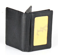 Premium Quality Mens Bifold Genuine Leather ID Wallet Credit Card Window Holder