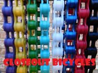 "ANY COLOR! XXL 116 Link  1/2""x1/8"" SINGLE SPEED BICYCLE BIKE CHAIN BMX CRUISER"