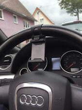 Schwarz Universal Handy KFZ Auto Lenkrad Halter Halterung für iphone Samsung PD
