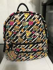 Betsey Johnson cat burgers pizza donut backpack NWT