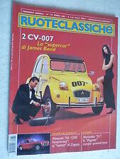 RUOTECLASSICHE Ruote Classiche N°172 - Aprile 2003 citroen 2cv 007 james bond